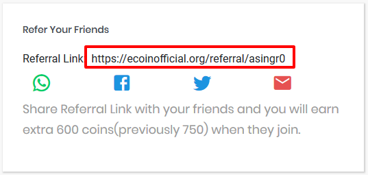 EcoinOfficial - Refer and Earn